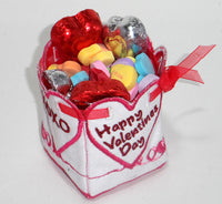 VALENTINE BOX filled with candy - Machine Embroidery Designs - In the hoop embroidery project - by EdytheAnne - 1