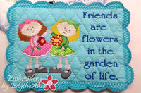 FRIENDS MUG MATS Available in two sizes. INSTANT DOWNLOAD NOW - Embroidery by EdytheAnne - 3