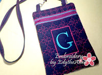 MONOGRAM CROSSBODY BAG - INSTANT DOWNLOAD - Embroidery by EdytheAnne - 2
