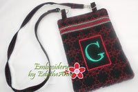 MONOGRAM CROSSBODY BAG - INSTANT DOWNLOAD - Embroidery by EdytheAnne - 1