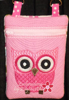 Girl's Owl Crossbody Purse. INSTANT DOWNLOAD - Embroidery by EdytheAnne - 2