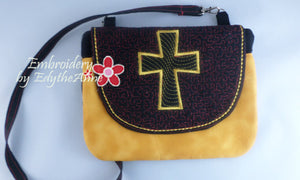 FAITH-BASED CROSS IN THE HOOP BAG w/FLAP - Digital Download