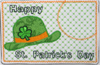 Set of Two ST. PATRICKS DAY In The Hoop Machine Embroidered Mug MatMug Rug.  INSTANT DOWNLOAD - Embroidery by EdytheAnne - 2