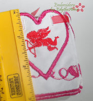 VALENTINE BOX Hieght Dimension - Machine Embroidery Designs - In the hoop embroidery project - by EdytheAnne - 2