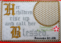 The  PROVERBS 31 WOMAN Mug Mats Version 1 In The Hoop Embroidered Mug Mat Set of Two designs.  -  Instant Download - Embroidery by EdytheAnne - 3