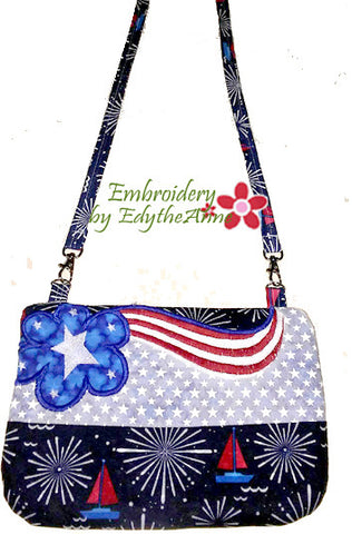 FLAG LOVING PATRIOTIC In The Hoop Bag - Digital Download -