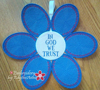 FAITH BASED PATRIOTIC DOOR HANGER In The Hoop Project -DIGITAL DOWNLOAD