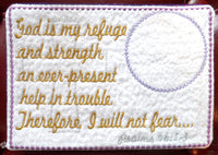 GOD MY REFUGE Faith Based Mug Mat/Mug Rug - INSTANT DOWNLOAD - Embroidery by EdytheAnne - 2