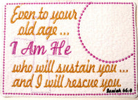 Isaiah 46 Faith Based Mug Mat. Easy and quick.  - Digital File - Instant Download - Embroidery by EdytheAnne - 2
