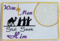 "Christmas Mug Mat ""Wise Men Still Seek Him"".  - Digital File - Instant Download - Embroidery by EdytheAnne - 2"