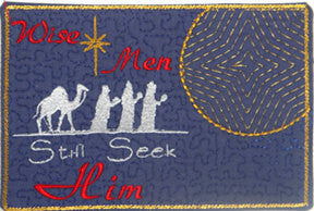 "Christmas Mug Mat ""Wise Men Still Seek Him"".  - Digital File - Instant Download - Embroidery by EdytheAnne - 1"
