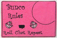 SET of three BUNCO MUG Mats/Mug Rugs.  These are In The Hoop Embroidered Mug Mat - INSTANT DOWNLOAD - Embroidery by EdytheAnne - 2
