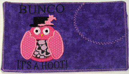 SET of two BUNCO MUG Mats/Mug Rugs.  These are In The Hoop Embroidered Mug Mat.   - Digital File - Instant Download - Embroidery by EdytheAnne - 1