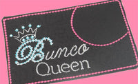 BUNCO QUEEN Mug Mats.  These are In The Hoop Embroidered Mug Mats/Mug Rugs - INSTANT DOWNLOAD