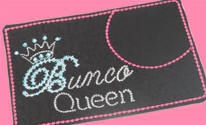 BUNCO QUEEN Mug Mats.  These are In The Hoop Embroidered Mug Mats/Mug Rugs - INSTANT DOWNLOAD - Embroidery by EdytheAnne - 1