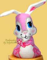 Friends Forever Bunny STUFFIE In The Hoop Machine Embroidery Design...No Manual Sewing!  - INSTANT DOWNLOAD - Embroidery by EdytheAnne - 2