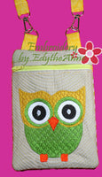 Girl's Owl Crossbody Purse. INSTANT DOWNLOAD - Embroidery by EdytheAnne - 3