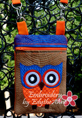Girl's Owl Crossbody Purse. INSTANT DOWNLOAD - Embroidery by EdytheAnne - 1