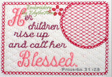 The  PROVERBS 31 WOMAN Mug Mats  Version 2 In The Hoop Embroidered Mug Mat Set of Two designs.  - Digital File - Instant Download - Embroidery by EdytheAnne - 2