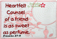 A FRIEND'S COUNSEL MUG MAT/MUG RUG.  - Digital Download