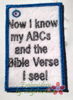 CHILDREN'S ABC Bible Verse Cards. All 3 sizes included.   - INSTANT DOWNLOAD - Embroidery by EdytheAnne - 2