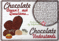 CHOCOLATE MUG MATS -Set of Two In The Hoop Mug Mats -Instant Download - Embroidery by EdytheAnne - 2