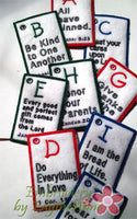 CHILDREN'S ABC Bible Verse Cards. All 3 sizes included.   - INSTANT DOWNLOAD - Embroidery by EdytheAnne - 3