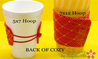 MONOGRAM COFFEE COZY Set of 26  In The Hoop Embroidered Cozy INSTANT DOWNLOAD - Embroidery by EdytheAnne - 5
