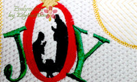 JOY Christmas Mug Mat   - INSTANT DOWNLOAD - Embroidery by EdytheAnne - 2