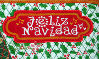 Merry Christmas  and Feliz Navidad Crossbody Bag.2 Sizes. 2 Designs INSTANT DOWNLOAD - Embroidery by EdytheAnne - 4