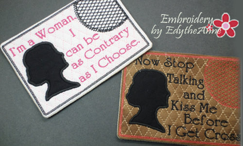 DOWNTON ABBEY STYLE Designs 2 Piece Set In The Hoop Embroidered Mug Mats/Mug Rugs. - Digital File - Instant Download - Embroidery by EdytheAnne - 1