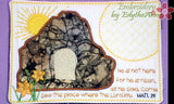 HE IS RISEN Faith Based In The Hoop Embroidered Mug Mat/ Mug Rug. Digital File.  - Digital File - Instant Download - Embroidery by EdytheAnne - 1