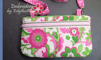 MISS DAISY Scalloped Flap Bag with Dimensional Flowers. INSTANT DOWNLOAD - Embroidery by EdytheAnne - 2