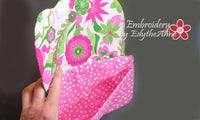 MISS DAISY Scalloped Flap Bag with Dimensional Flowers. INSTANT DOWNLOAD - Embroidery by EdytheAnne - 3