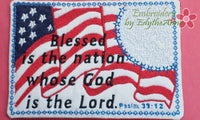 .July 4th In The Hoop Patriotic SET OF 4 MUG MAT SET- INSTANT DOWNLOAD - Embroidery by EdytheAnne - 3