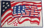 PATRIOTIC USA  In The Hoop Mug Mat/Mug Rug.  - Digital Download