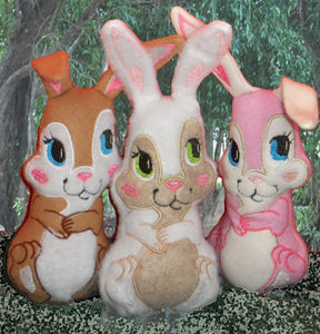 Friends Forever Bunny STUFFIE In The Hoop Machine Embroidery Design...No Manual Sewing!  - INSTANT DOWNLOAD - Embroidery by EdytheAnne - 1