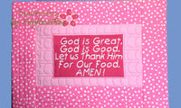 CHILD'S PLACEMAT - Faith Based Child's Placemat In The Hoop Machine Embroidery Design.  - INSTANT DOWNLOAD - Embroidery by EdytheAnne - 3
