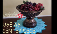 CENTERPIECE or TRIVET  In The Hoop Project -INSTANT DOWNLOAD - Embroidery by EdytheAnne - 3