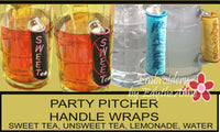 PITCHER HANDLE WRAPS This is a digital file and delivered to your email - INSTANT DOWNLOAD - Embroidery by EdytheAnne - 1
