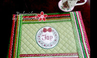 WORDS OF CHRISTMAS PLACE MAT SET  In The Hoop - INSTANT DOWNLOAD - Embroidery by EdytheAnne - 4