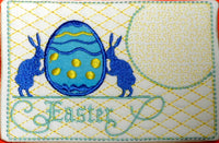 VINTAGE EASTER In The Hoop Embroidered Mug Mat & Matching Napkin Ring. Digital File. INSTANT DOWNLOAD - Embroidery by EdytheAnne - 4