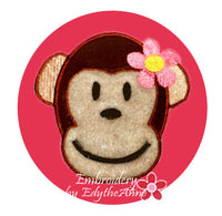 MONKEY FACE MACHINE EMBROIDERY DESIGN APPLIQUE -