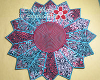 CENTERPIECE or TRIVET  In The Hoop Project -INSTANT DOWNLOAD - Embroidery by EdytheAnne - 2