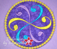 SWIRL COASTER - 2 VERSIONS INCLUDED- IN THE HOOP MACHINE EMBROIDERY - Embroidery by EdytheAnne - 2