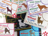AWESOME DOG BREEDS -Set 1 - Choose Yours In The Hoop Mug Mat/Mug Rug. - Digital Download