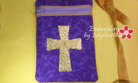 IN THE HOOP BAG WITH Embroidered Cross - INSTANT DOWNLOAD - Embroidery by EdytheAnne - 3