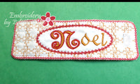 NOEL Napkin Rings In The Hoop - Instant Download - Embroidery by EdytheAnne - 2