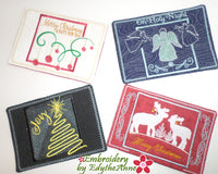 GOLDEN CHRISTMAS Mug Mats/Mug Rugs - In The Hoop Machine Embroidery
