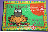HAPPY FALL MUG MAT/MUG RUG In The Hoop Embroidery Design - Embroidery by EdytheAnne - 5
